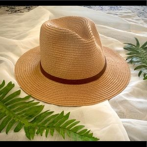Accessories - Tan Sun Hat with Brown Band